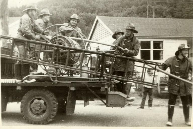 Old Britannia Beach Volunteer Fire Department Flatbed Truck